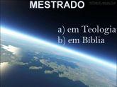 MESTRADO EM BÍBLIA